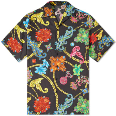 Versace Floral Chain Print Vacation Shirt