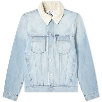 Calvin Klein Omega Sherpa Denim Jacket