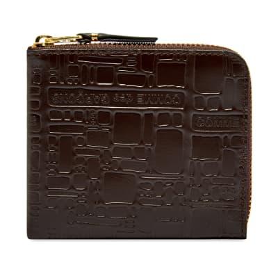 Comme des Garcons SA3100EL Embossed Logo Wallet