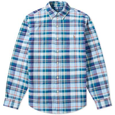 Polo Ralph Lauren Button Down Slim Fit Checked Oxford Shirt
