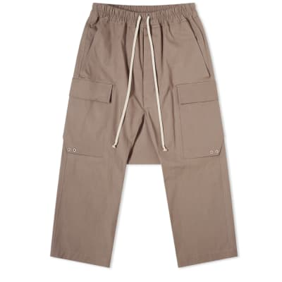 Rick Owens Drawstring Cargo Cropped Pant