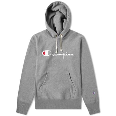 89838a471 Champion Reverse Weave Script Logo Hoody