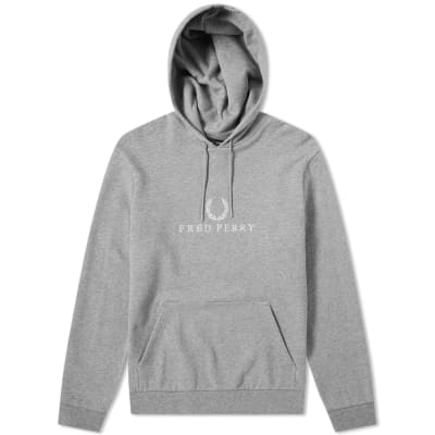 Fred Perry Embroidered Logo Popover Hoody