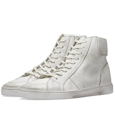 Saint Laurent Joe Distressed High Sneaker