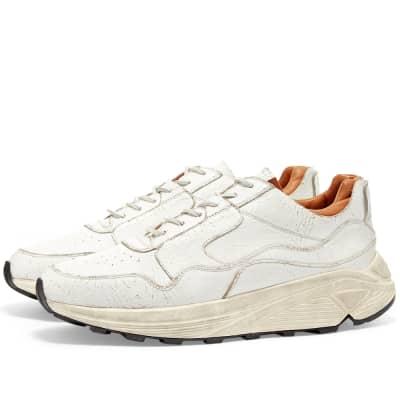 Buttero Vinci Cracked Leather Sneaker