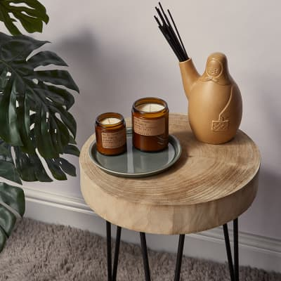 P.F. Candle Co No.04 Teakwood & Tobacco Mini Soy Candle