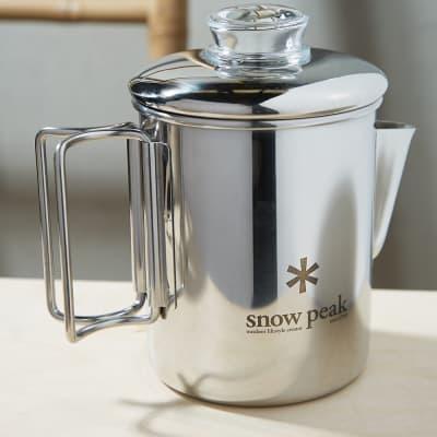 Snow Peak Stainless Steel Coffee Percolator - 6 Cup Set