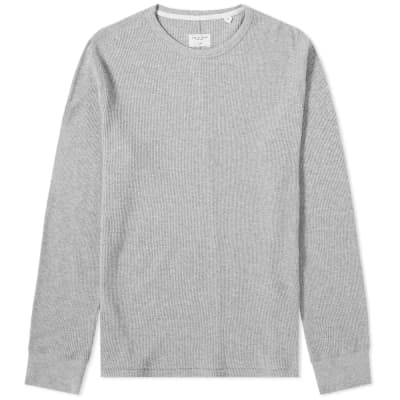 Rag & Bone Long Sleeve Standard Issue Waffle Tee