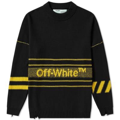 Off-White Cotton TM Crew Knit