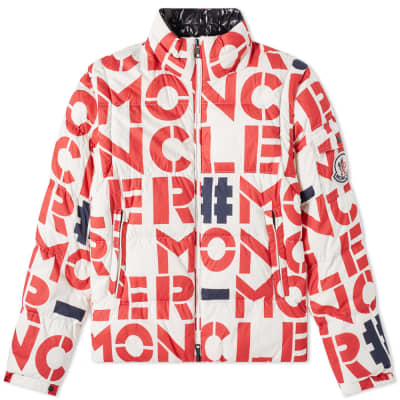 Moncler Genius - 2 Moncler 1952 - Jehan All Over Text Logo Removable Sleeve Down Jacket