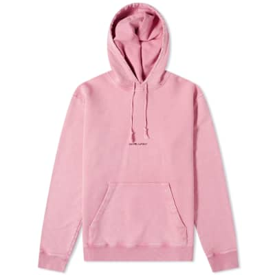 Saint Laurent Loose Fit Archive Logo Hoody