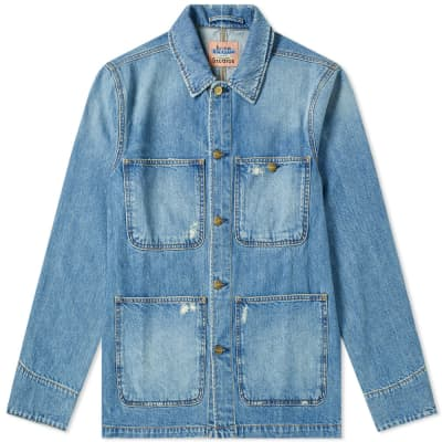 Acne Studios Albyr Ripped Denim Work Jacket