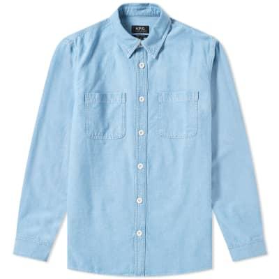 A.P.C. David 2 Pocket Chambray Shirt
