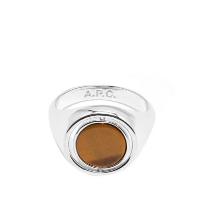 A.P.C. Pierre Tiger Eye Ring