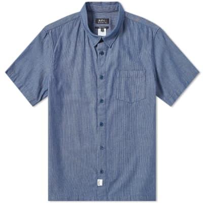 A.P.C. Short Sleeve Stripe Shirt