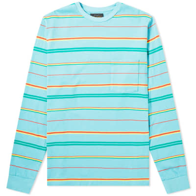 Beams Plus Long Sleeve Stripe Pocket Tee