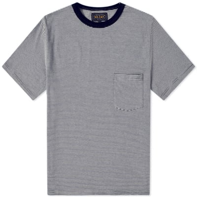 Beams Plus Narrow Stripe Pocket Tee