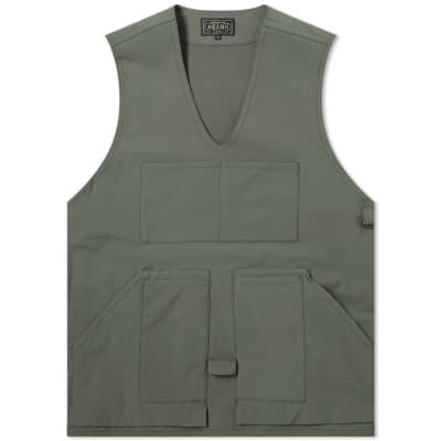 Beams Plus Pullover Utility Vest Nylon Cotton Fleece