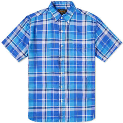 Beams Plus Short Sleeve 60/1 Twill Check