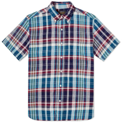 Beams Plus Short Sleeve Indian Madras