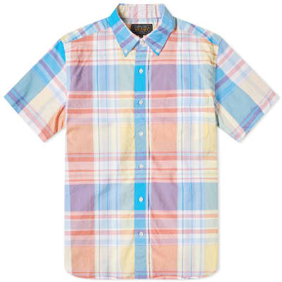 Beams Plus Short Sleeve Madras Check Shirt
