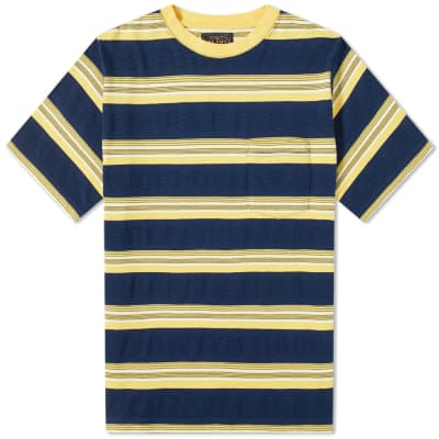 Beams Plus Stripe Pocket Tee
