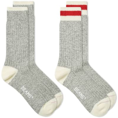 Beams Plus Walking & Relaxing Sock - 2 Pack
