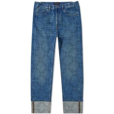 Valentino Grid Print Jean