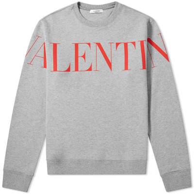 Valentino Large Logo Printed Crew Sweat
