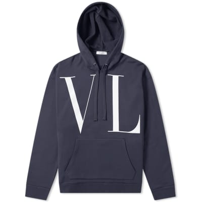 Valentino Large VLTN Print Popover Hoody