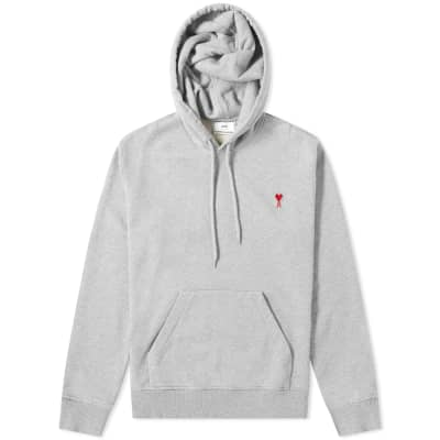 AMI Heart Logo Patch Popover Hoody