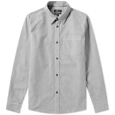 A.P.C. Fine Stripe One Pocket Shirt