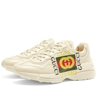 c0c5cbcfb89 Gucci Rhyton Guuci Print Square Sneaker