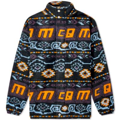 McQ Alexander McQueen Fair Isle Zip Fleece Jacket