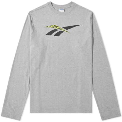 Reebok Long Sleeve Hyper Graphic Tee
