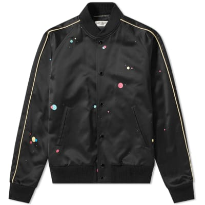 Saint Laurent Galaxy Silk Teddy Jacket