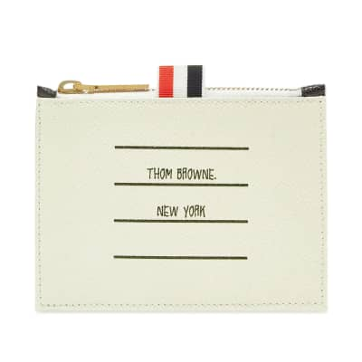 Thom Browne Printed Label Zip Wallet