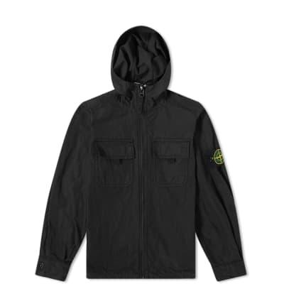 Stone Island Junior Hooded Zip Overshirt