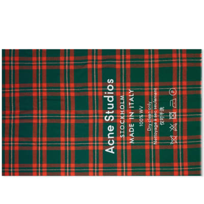 Acne Studios Cassiar Check Scarf