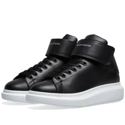 Alexander McQueen Hi Top Strap Wedge Sole Sneaker