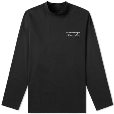 Martine Rose Long Sleeve Mock Neck Logo Tee