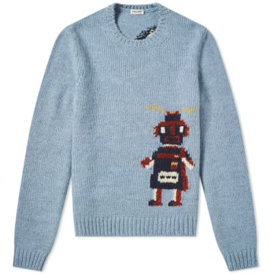 Saint Laurent Robot Crew Knit