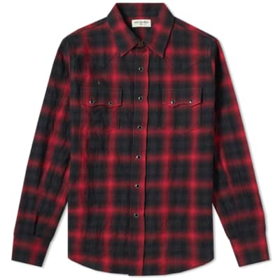 Saint Laurent Classic Texas Check Shirt