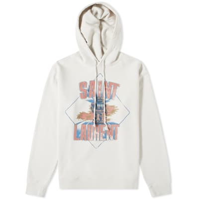 Saint Laurent Damaged Robot Popover Hoody