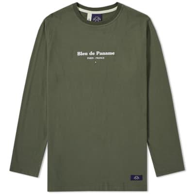 Bleu de Paname Long Sleeve Logo Tee