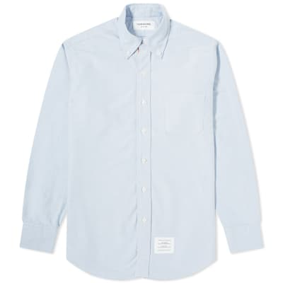 Thom Browne Classic Grosgrain Placket Oxford Shirt