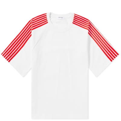 DIMA LEU Oversize Stripe Sleeve Tee