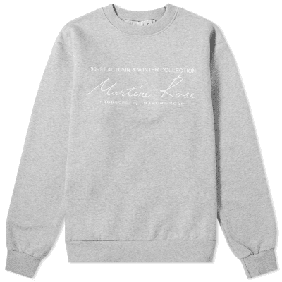Martine Rose Embroidered Logo Crew Sweat