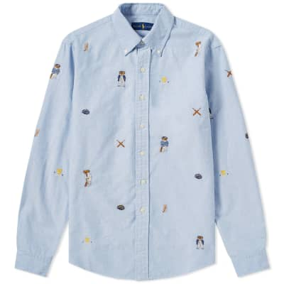 Polo Ralph Lauren Embroidered All Over Pattern Shirt
