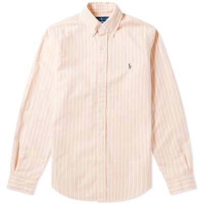 Polo Ralph Lauren Pin Stripe Button Down Oxford Shirt